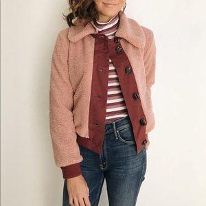 Pink/mauve Sherpa jacket